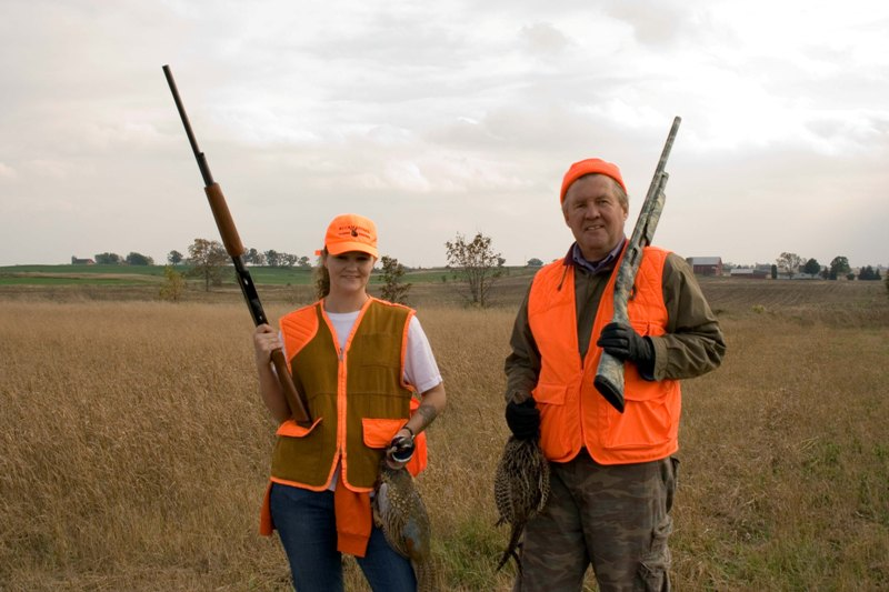 Dad & I on a pheasant hunt in 2011.