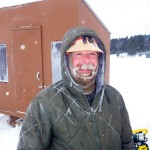 Jeff Robl - our fishing guide with his frozen beard.