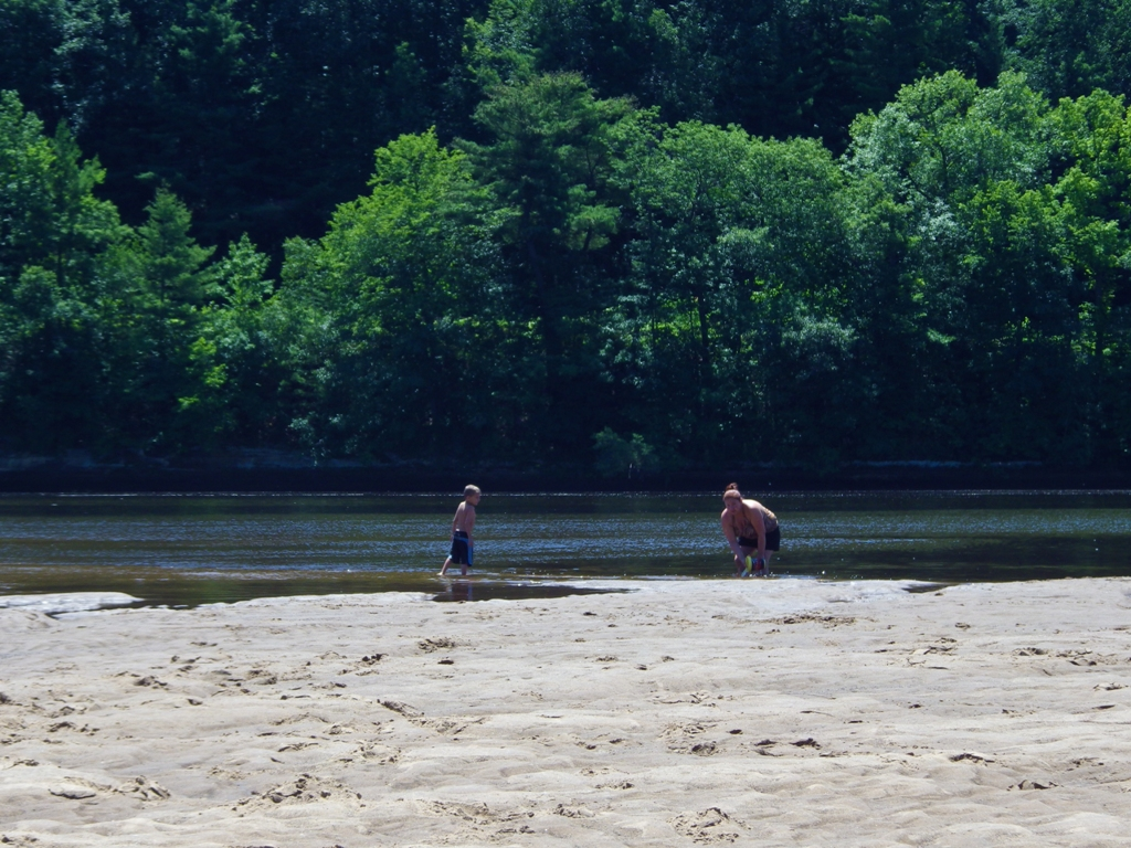 Katie & Wyatt search for the elusive minnow....