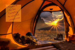 7 Reasons to Go Camping In the Fall Better Sleeping Temps