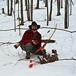 The author demonstrates Stump shooting.