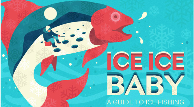 A Guide to Ice Fishing Info Graphic #IceFishing