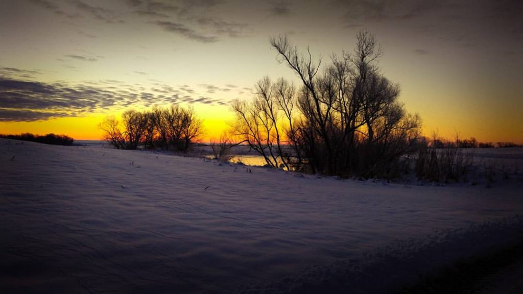 A spectacular sunrise at Sharkey Outfitters.