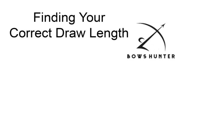 Finding Your Correct Draw Length